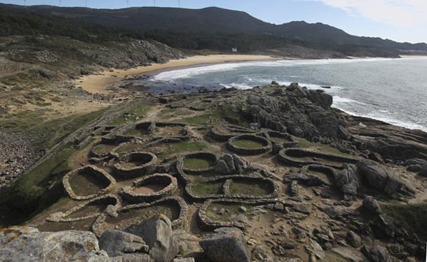 Castro de Baroña (Porto do Son, A Coruña).