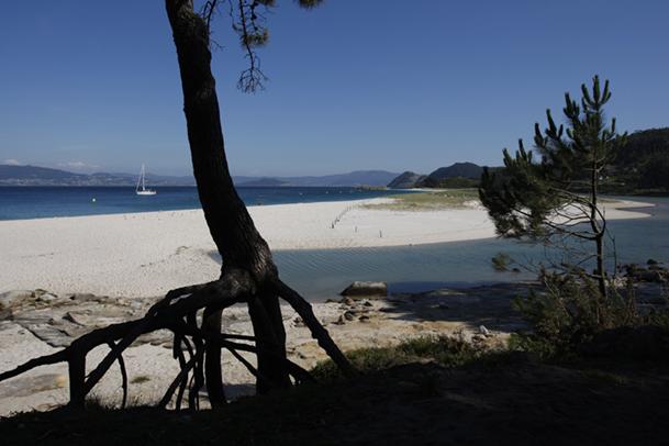 Playa de Rodas y Lago dos Nenos, en las islas Cíes.