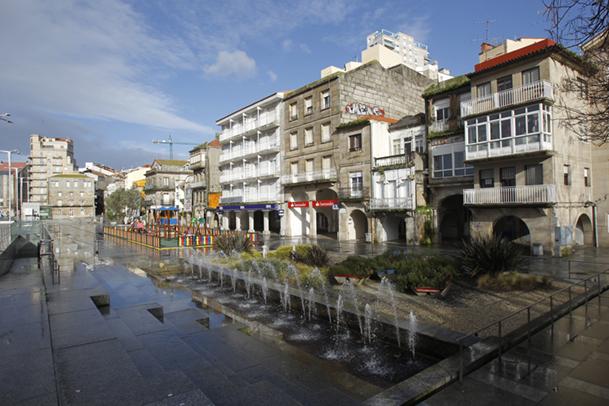 Plaza de O Berbés, el antiguo pueblo pesquero del que nació Vigo.