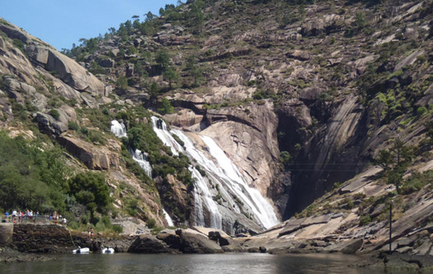 Cascada del Xallas, en Ézaro (agosto 2012).