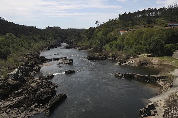 Río Miño en Arbo (Pontevedra).