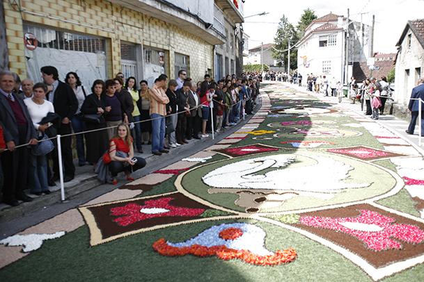 Alfombras florales en el Corpus de Ponteareas (Pontevedra).