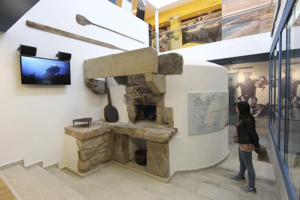 El interior del Museo da Memoria Marítima de Porto do Son conserva el horno de la antigua panadería sobre la que se construyó.
