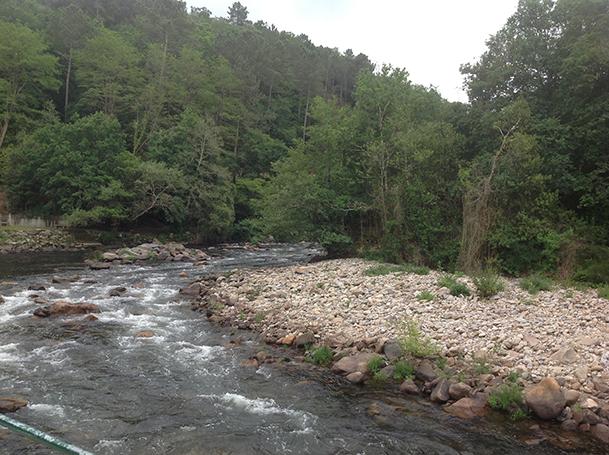 Río Deza, en Merza (Vila de Cruces).
