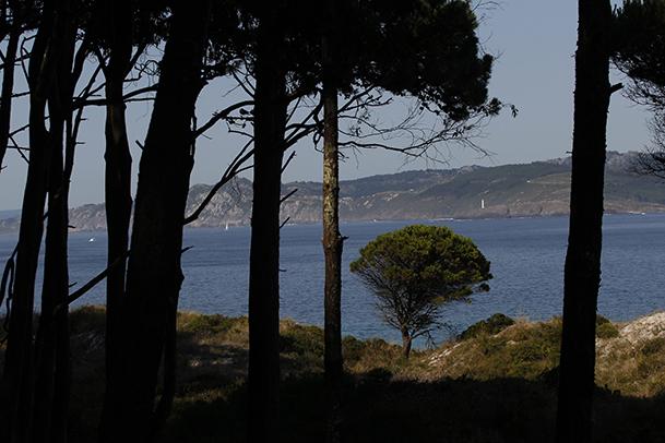 Vista de A Costa da Vela desde el camino que conduce al faro de Monteagudo.