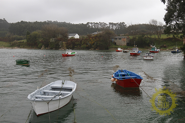 Pequeño puerto de Portocelo, en el municipio de Xove.