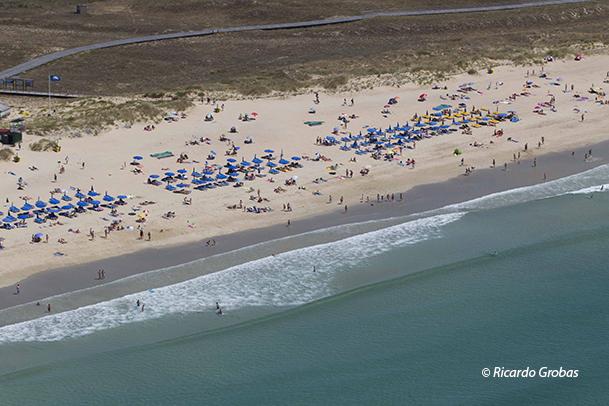 Playa de A Lanzada, en verano.
