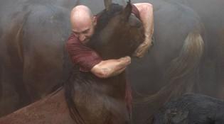 Hombre y caballo protagonizan en Sabucedo la lucha más noble: cuerpo a cuerpo.
