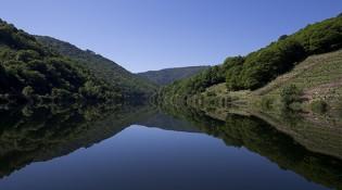 Embalse de Belesar, en el río Miño.