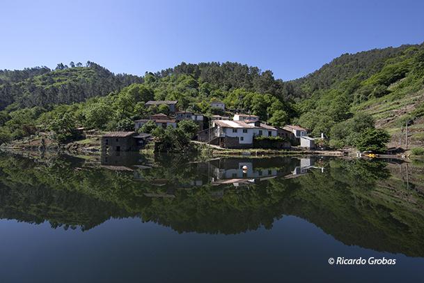 Parte alta de Portotide, uno de los pueblos inundados por el embalse.