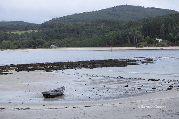 Playa de O Ariño, en la parroquia de Camariñas.