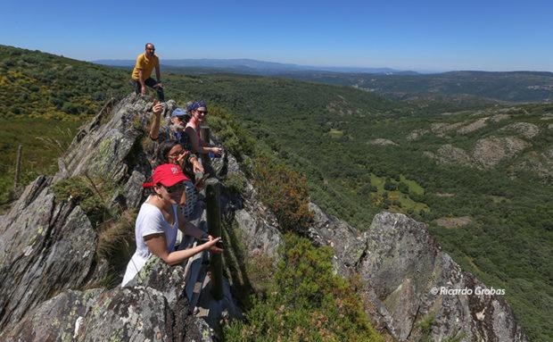 Mirador del valle de A Morteira.